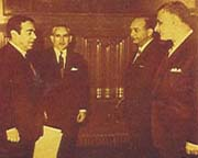 Hazem Nuseibeh meeting the Egyptian President Nasser