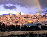 View over the Holy city of Jerusalem